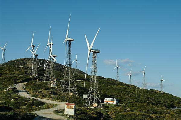 quiXote umzingelt von Windmühlen