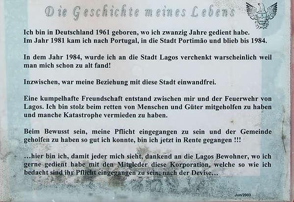 Seine Geschichte ~ sogar in deutscher Sprache