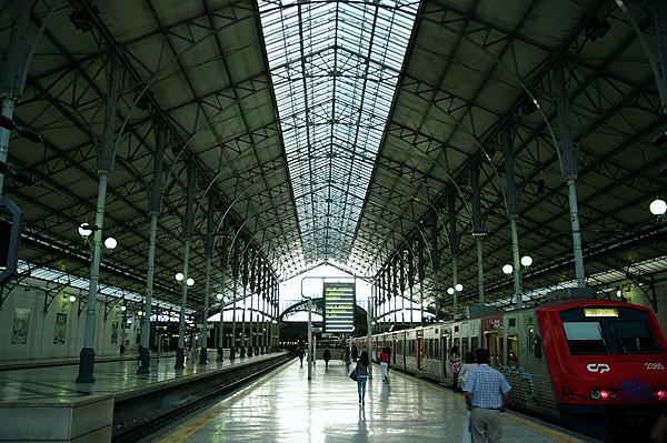 Eisen und Glas - Halle des Rossio-Bahnhofs