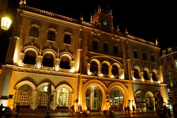 Kein Palast ~ der Rossio-Bahnhof