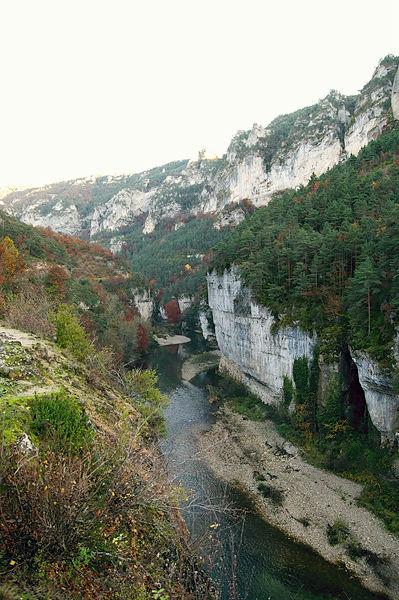 Gorges du Tarn ~ mangels Haltemöglichkeit nicht der spektakulärste Blick . . .