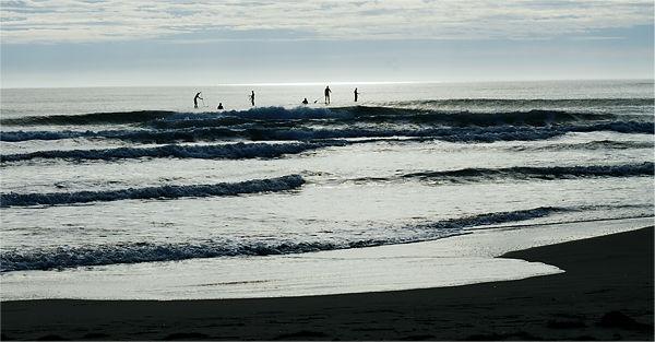 Surfing Gruissan ~ Wellenreiten mit Paddel