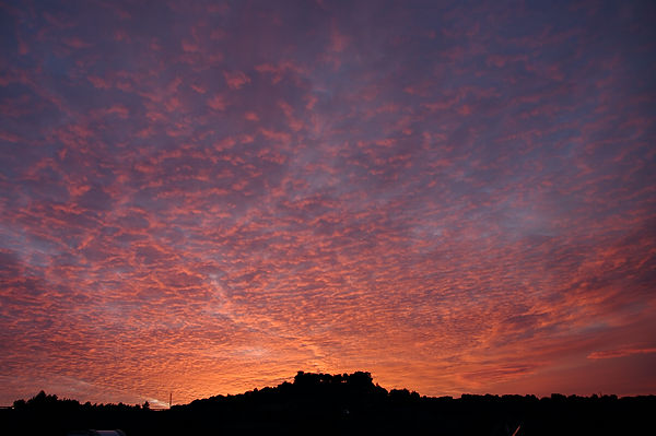 Morgenhimmel ~ rotglühend