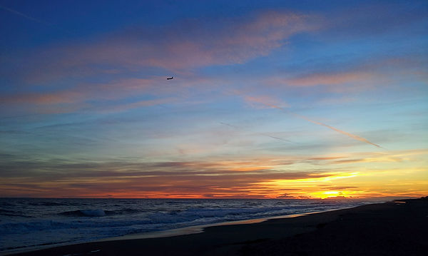 Farbenfroher Sonnenuntergang . . .