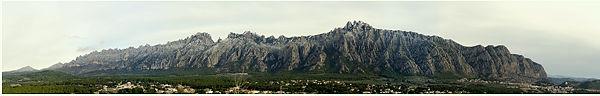 Montserrat Panorama als Briefmarke . . .