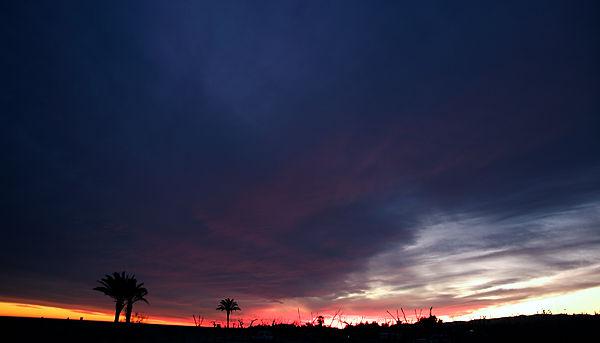 Wolkenbank am Abend . . .