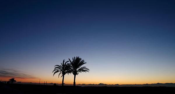 . . . und am frühen Morgen als dünner Streifen über dem Horizont
