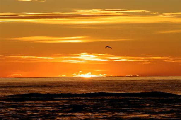 . . . das erste Aufblitzen der Sonne . . .