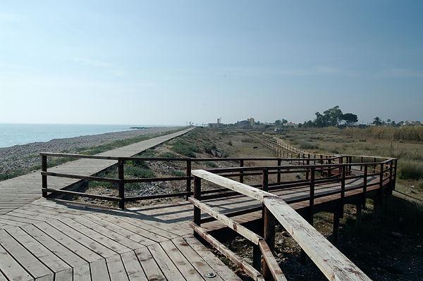 . . . und so sieht die Promenade von oben aus!