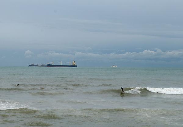 . . . die Surfer hatten ihre Freude daran . . .
