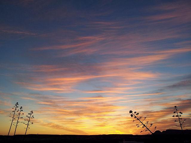 der Himmel heute morgen