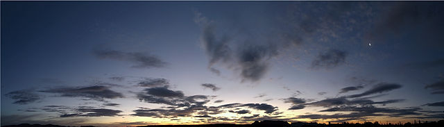 192° der Himmel heute morgen ~ vor Sonnenaufgang