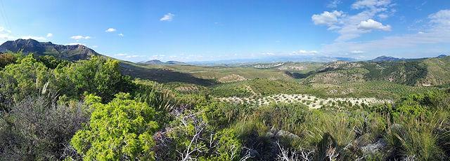 Spanien ~ Landschaft im Landesinneren . . .