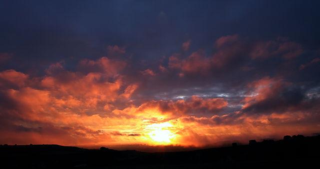 Sonnenaufgang ~ ein kurzes Blinzeln . . .