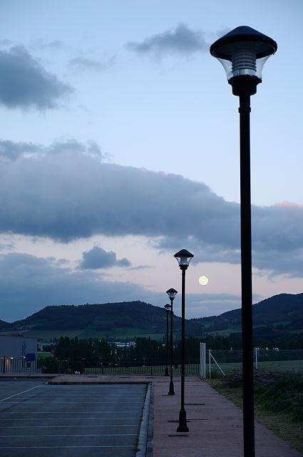 Mondaufgang am letzten spanischen Übernachtungsort . . .