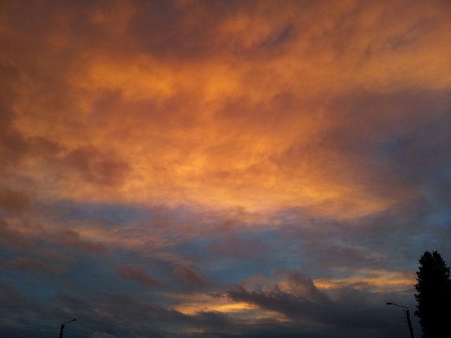 Himmel am Morgen des ersten Weihnachtstages