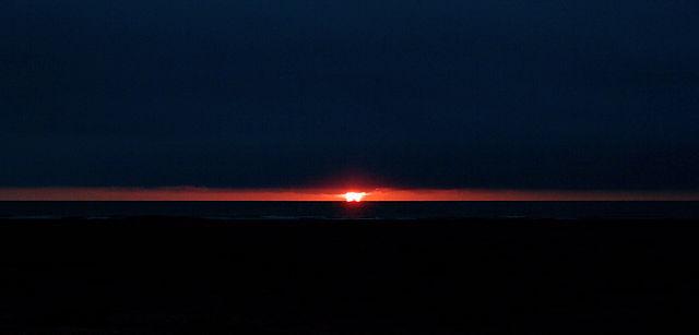 Kurzes Schauspiel zum Sonnenaufgang