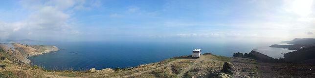Hundert plus Meter direkt überm Meer mit Panoramablick