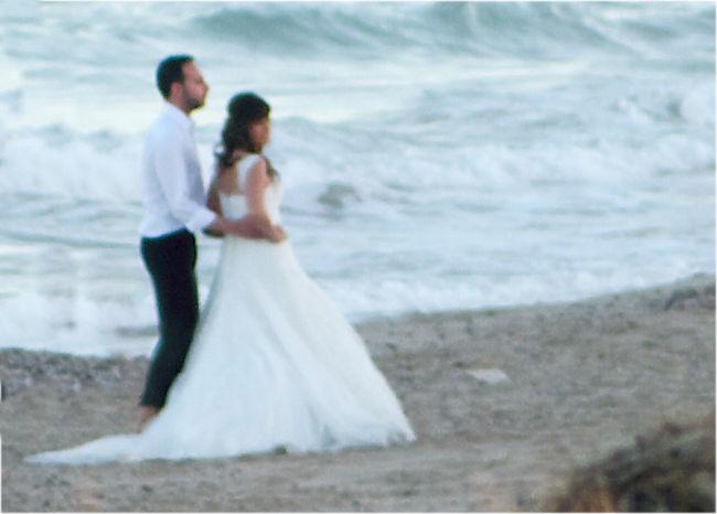 Das traute Paar am Strand
