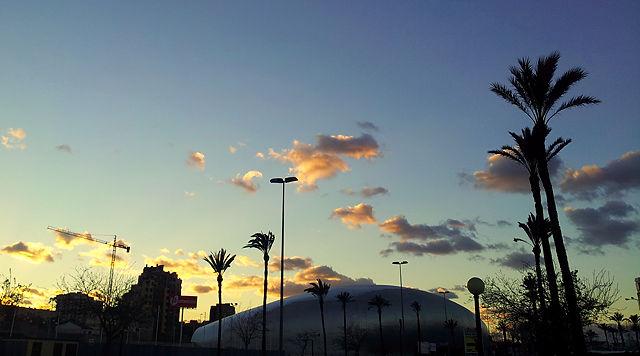 Abendhimmel über Cartagena