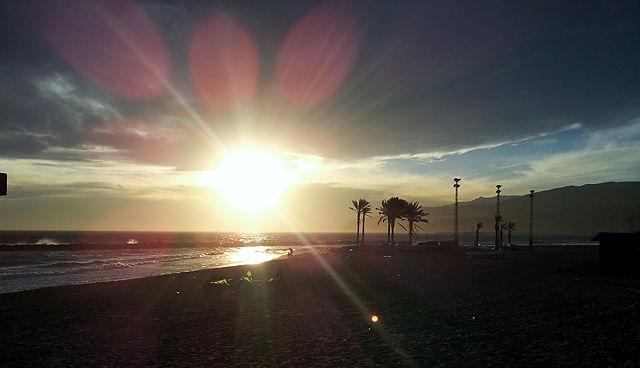 Abendhimmel über Almeria