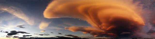Abendhimmel über Andalusien