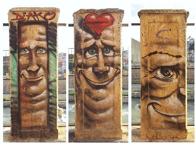 verliebter Jung ~ Säulen am Geländer des Genil