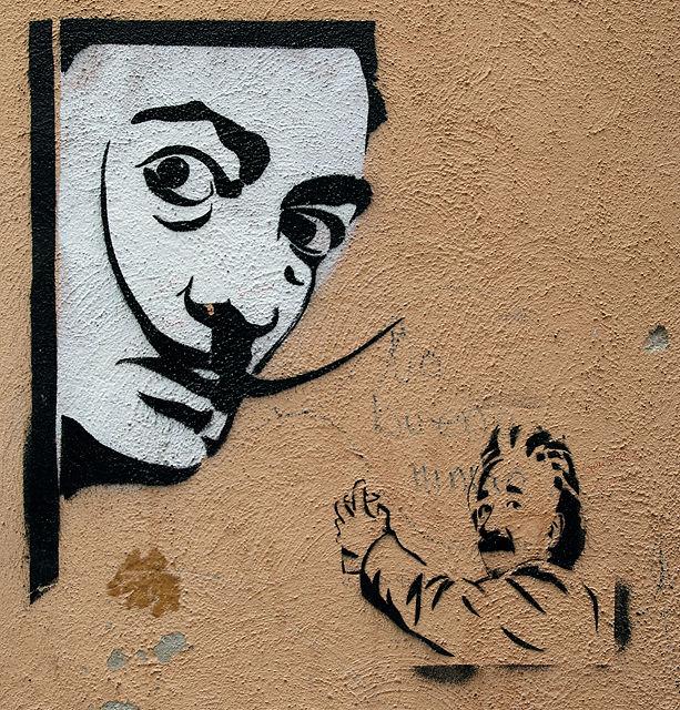 Künstler und Wissenschaftler vereint an einer Wand ;)