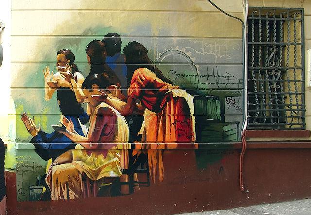 und ein richtiges Wandgemälde an einer Künstlerbar