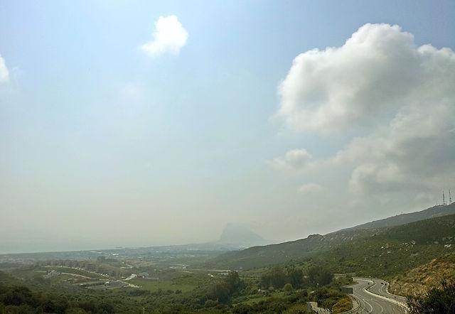 The Rock im Dunst ~ Gibraltar ~ Scheitelpunkt dieser Reise