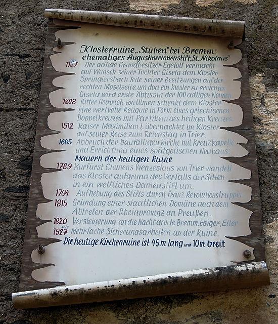 Timeline inclusive Verfall der Sitten ~ Kloster Stuben