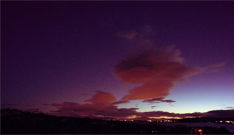 Abendhimmel, Blick nach Süden