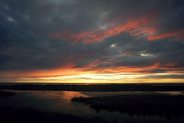 der Anblick vor Sonnenaufgang