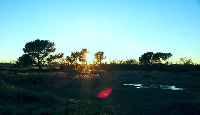 und der letzte Sonnenuntergang im alten Jahr