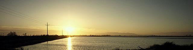 Abend über dem Ebrodelta