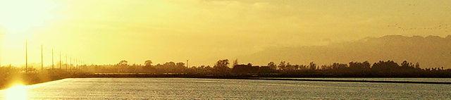 Abend über dem Ebrodelta - Ausschnitt