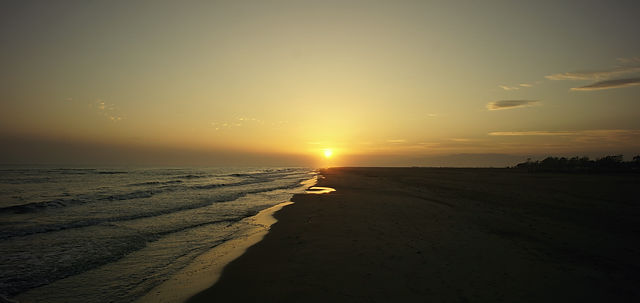 ein Sonnenuntergang . . .
