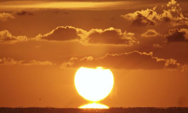 . . . ein Sonnenaufgang