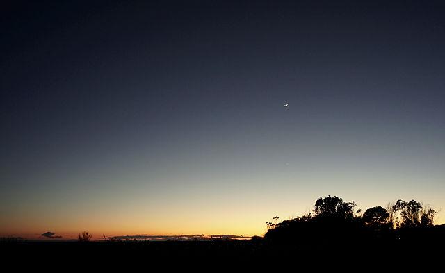 Nachschlag Abendhimmel mit Mond