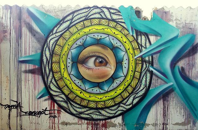 Mandala ~ das Auge an der Wand