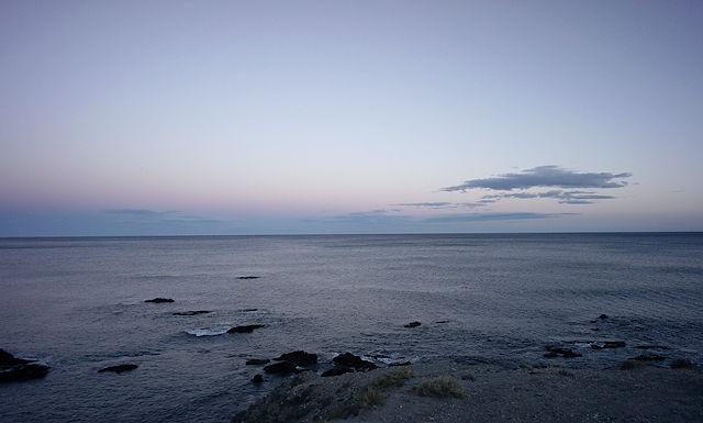 die blaue Stunde, am Abend nach Sonnenuntergang