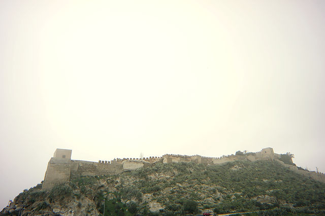 Alcazaba im Gegenlicht