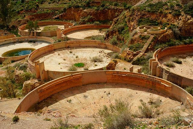 Planta Denver ~ in diesen Becken wurde das Gold aus dem gemahlenen Erz gewaschen