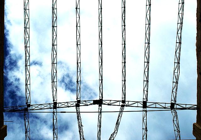 Maschinenturm ~ die Reste des Daches