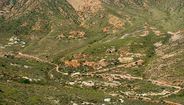 Mine Abellan von oben, hinter Rodalquilar