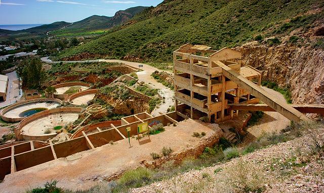 Planta Denver in Rodalquilar ~ Anlage zur Extraktion des Goldes aus dem Erz