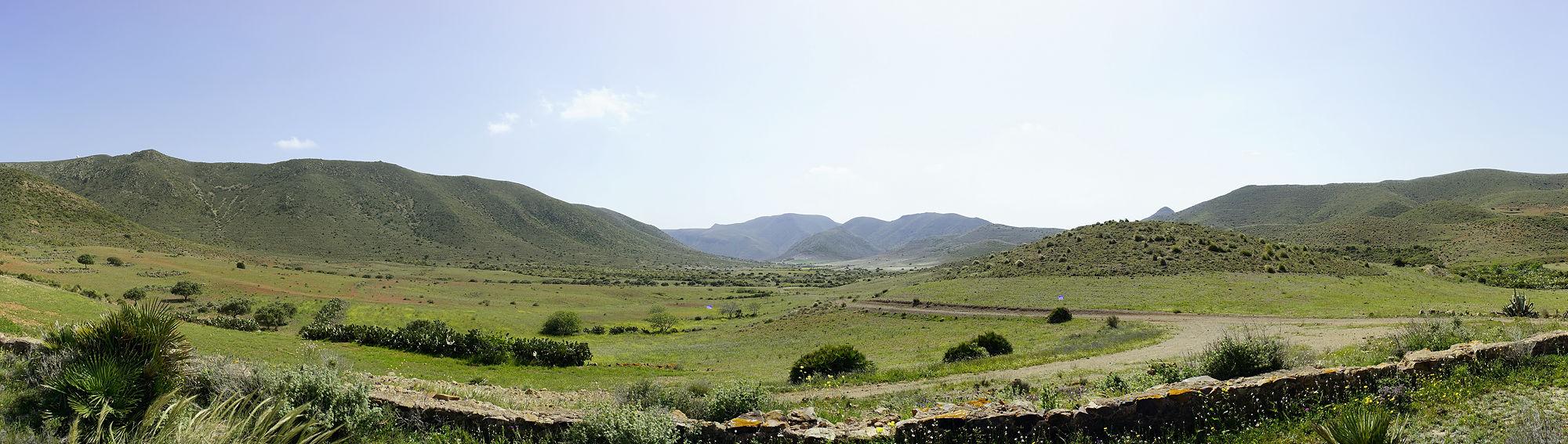 * Blick das Tal hinab . . . *