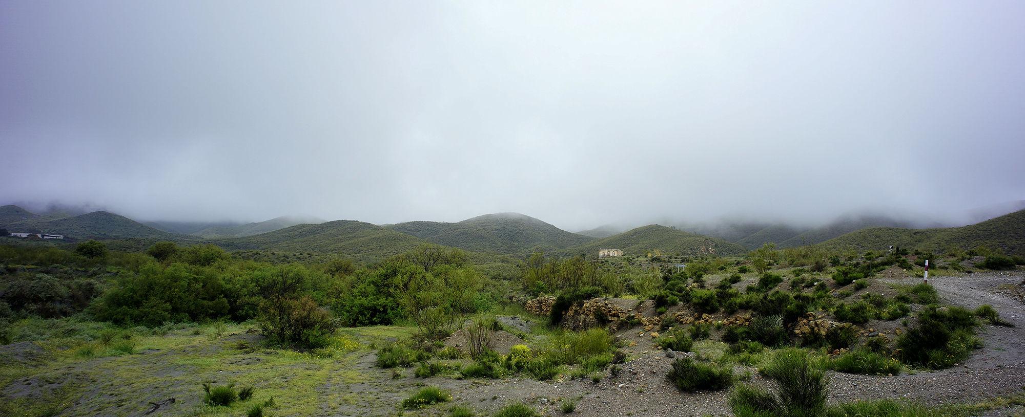 * ausgiebiger Regen und tiefhängende Wolken ~ Sierra Alhamilla *