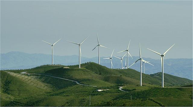 Windpark auf der Sierra de Las Estancias ~ insgesamt 25 Turbinen