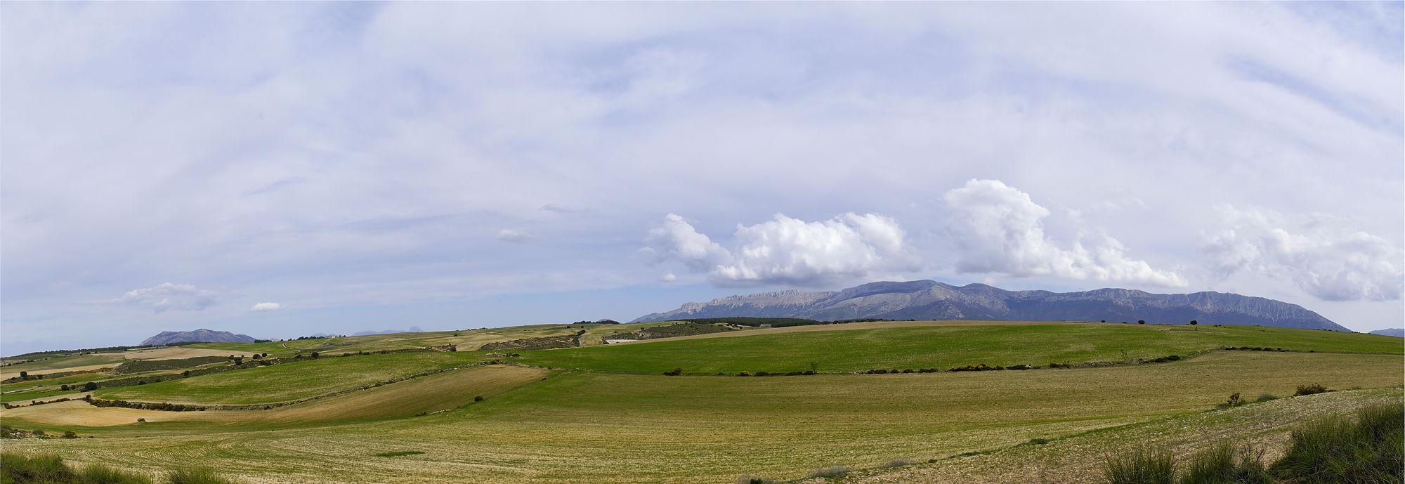 * weich gewellt ~ Blick zurück zur Sierra de Maria *